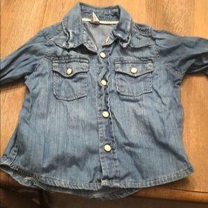 Baby gap western denim shirt
